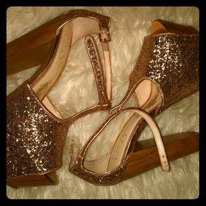 Jessica Simpson glitter heels